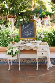 Dessert Table | Rancho Las Lomas Wedding Inspiration by Damaris Mia Photography | See more here: http://www.thesoutherncaliforniabride.com/2015/08/rancho-las-lomas-wedding-inspiration-by-damaris-mia.html