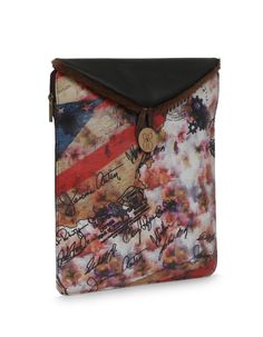 MU Safety Bindas Brown: Streaky, bright ipad case in brown by Baggit