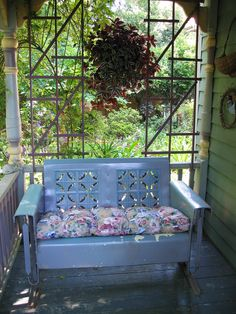 This looks just like the glider that where I sat with my Grandmother on the porch where I now live!  Memories...