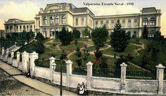 Escuela Naval de Valparaíso,  Año 1910     Fuente:  Imágenesde Chile del 1900