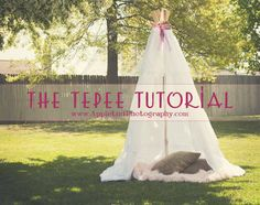 DIY Tepee Tutorial.  Makes a great kid hideaway or adorable photo prop!! Super simple but totally awesome!  Great DIY summer project!