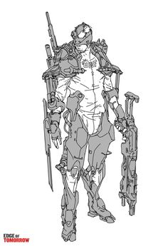 Edge of Tomorrow Concept Art by Jon McCoy Character Concept, Character Art, Reference Manga, Pose Reference, Edge Of Tomorrow, Concept Art World, Armor Concept, Cyberpunk Art, Character Design References