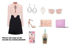 """""""Elle Woods in court"""" by reganlynn3002 ❤ liked on Polyvore featuring Miu Miu, Abbott Lyon, Yves Saint Laurent, So.Ya and Casetify"""