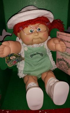 Cabbage Patch Kids MIB #8 Red Ponytail HTF Sunsuit outfit