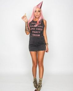 #Mascara Muscle Tee Dress by @DreamMonstar Mascara $69.95 at birdmotel.com.au online boutique!