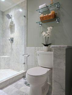 Good wall color with carerra marble  SW Roycroft Mist Gray - 2844