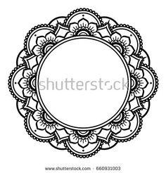 Illustration of Mandala design, Mehndi henna tattoo inspired round pattern vector art, clipart and stock vectors. Mandala Drawing, Mandala Painting, Mandala Tattoo, Mandala Design, Banner, Mandala Coloring Pages, Henna Patterns, Doodle Patterns, Mehndi Designs