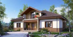Style Retro, Home Fashion, Facade, House Design, Mansions, House Styles, Outdoor Decor, Houses, Home Decor
