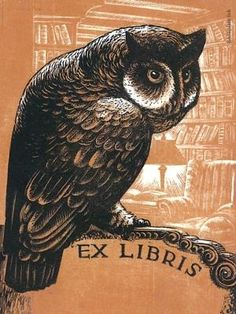 Owl woodcut ex libris by Lynd Ward at Bookplate Ink bookplate - #5