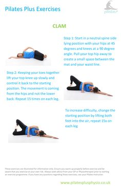Pilates at home - Clam for strengthening the hips and aligning the pelvis