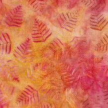 BeColourful Batik Fabric Fall Leaves - Autumn