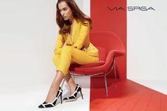 Irina Shayk Shows Off Her Legs in Via Spiga Fall 2014 Ads