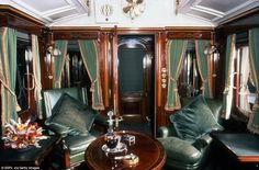 Smoking room in the King's day compartment of the London North Western Railway's Royal Train. This room was first used by Edward VII and its leather and wood opulence is finessed by the drinks. Get premium, high resolution news photos at Getty Images Train Car, Train Travel, Trains, Window Fitting, Kings Day, King Edward Vii, Wood Cladding, Railway Museum, Pink Curtains