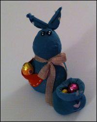 coniglietto pasquale con ovetti di cioccolato