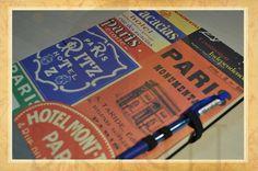 """Hand bound book - Bookbinding - Encadernação artesanal -Estúdio Brigit: Workbook Paris - encomenda (Workbook """"Paris""""- Orde..."""