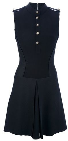 Military flare dress by Victoria Beckham - feminine with a touch of masculinity