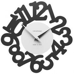 horloge design mat bois fabrication europeenne - achat d'horloges design sur atylia.com