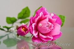 DIY FOR CREPE ROSE AND ROSE BUDS... Flowers for gifting III   MY WORLD CRAFT