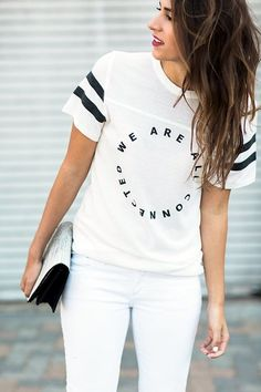40 Compelling Graphic Tees Outfits you want Immediately   Graphic Tees Outfits   Graphic Tees   Quotes on Tees   Cute Outfits   Fenzyme.com