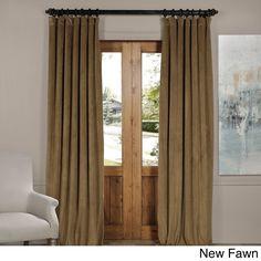 EFF Exclusive Fabrics Signature Velvet Blackout Curtain Panel (