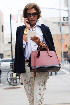 On the Scene…At Ralph Lauren, New York « The Sartorialist Autumn Street Style, Street Style Women, Ralph Lauren New York, Spring Summer Fashion, Autumn Fashion, Stylish Older Women, Chic Over 50, Mr Style, Nyc