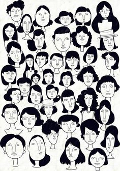 Art Sketches, Art Drawings, Cartoon Faces, Drawing People, Portrait Art, Doodle Art, Graphic Illustration, Art Inspo, Art Reference
