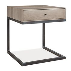 Hudson C-Table/Nightstand - End Tables - Living - Room & Board Available in 5 stains. The one shown is Maple with shell stain. Storage beds available to match in California King size. Nightstand cost is $599.00