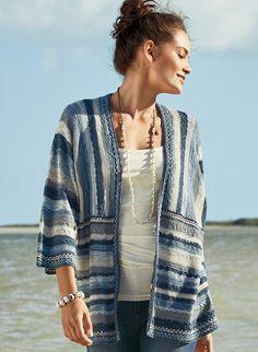 157d537c1c9e Caribe Pima Cotton Kimono - Art Knits   Collectibles - Sweaters