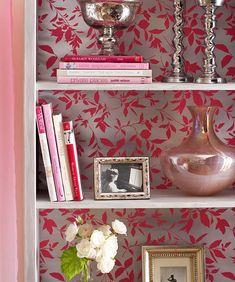 Bookcase Chic: 20 Genius DIY Uses For Leftover Wallpaper Scraps - mom.me