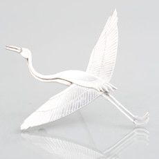 Flying crane silver brooch Wiwen Nilsson, Lund, Sweden. 1956 | Zimmerdahl - 20th Century Design