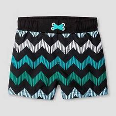 Baby Boys' Chevron Print Swim Trunk Cat & Jack™ - Black : Target