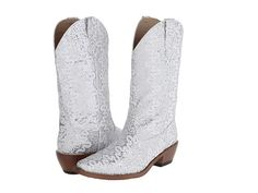 Roper Lace Glitter Snip Toe Boot Blue - Zappos.com Free Shipping BOTH Ways