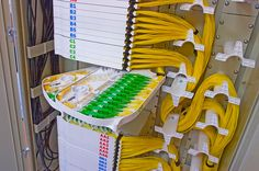 Good example of high-density cable management.