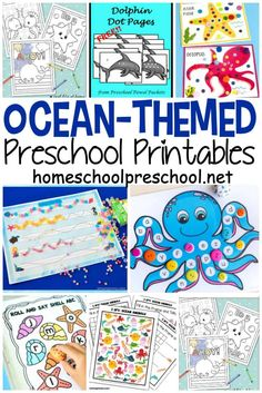 This amazing collection of preschool ocean theme printables is perfect for your summer activities. Kids can learn more about oceans and ocean animals. science for preschoolers preschool activities preschool crafts kindergarten Shark Activities, Animal Activities, Preschool Learning Activities, Free Preschool, Preschool Printables, Toddler Activities, Summer Themes For Preschool, Beach Theme Preschool, Water Animals Preschool