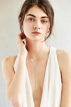 Flat Disc Lariat Necklace - Urban Outfitters