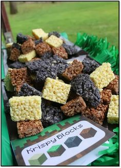 Minecraft Party. I might be able do this one! | http://pinterest-hot-pins.blogspot.com/