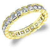 Eternity Wedding Bands CTTW Diamond Eternity Ring Wedding Anniversary Ring in Yellow Gold Finger Size 11 Eternity Ring Diamond, Diamond Wedding Rings, Eternity Bands, Wedding Bands, Wedding Anniversary Rings, Thing 1, Rose Gold, Brilliant Diamond, Yellow