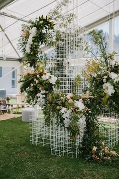 Floral installation- Design by http://www.nomadstyling.com.au Flowers by -Moss Industry