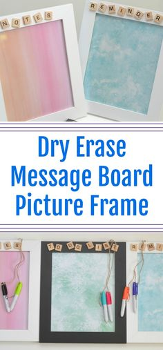 Dry Erase Message Board Picture Frame - #DIY Teacher Gift, Dry Erase Message Board Picture Frame, crafts with Scrabble pieces, easy DIY teacher gifts, DIY Christmas gifts for teachers, DIY christmas gifts, easy Christmas gifts for teachers, Teacher gifts, dry erase picture frame, picture frame gifts, #teachergifts #DIY #Christmasgifts