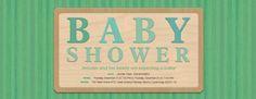 Baby Stripes Invitation