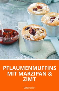 Pflaumenmuffins mit Marzipan und Zimt - Bolos e Tortas Marzipan, Cake Pops, Yummy Food, Yummy Yummy, Healthy Recipes, Healthy Foods, Muffins, Oatmeal, Food And Drink