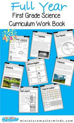 First Grade Science Full Year Curriculum
