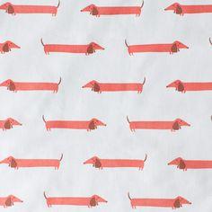 Dachshund Cotton Fabric 38.50pound per metre