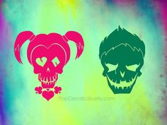Joker Harley Quinn Suicide Squad decal - Superhero sticker vinyl decal - wall…