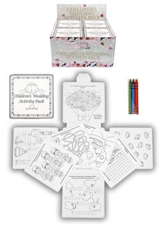 4 Wedding Childrens Activity Pack / Crayons Drawing Colouring Book Travel Games: Amazon.co.uk: Kitchen & Home