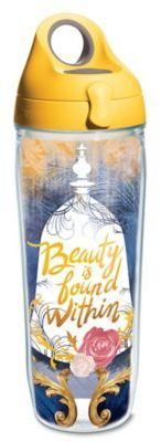 "Show you're a fan of Disney magic as you drink your favorite beverage in Tervis' Disney Princess ""Beauty is Found Within"" Wrap Water Bottle. This colorful princess wrap tumbler features double-walled insulation to keep cold drinks cold and hot drinks hot. Princess Beauty, Disney Princess, Disney Water Bottle, Disney Cruise, Wedding Gift Registry, Water Bottles, Xmas Gifts, Beauty And The Beast, Bedding Shop"