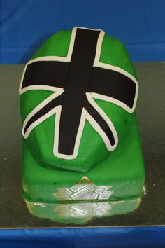The green Power Ranger. My Son Dylan's 4th Birthday Cake.