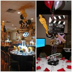 Hollywood Theme Centerpieces