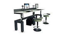 Height Adjustable Desk. Deskworx by DL Custom. Call today: 1-855-475-0275 #dlcustom #deskworx #heightadjustabledesk #officedesign