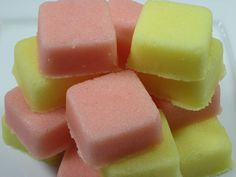 I love this recipe I found on soapdelinews.com for making Shea butter salt scrub cubes. It's pretty easy to make, works great and you can choose which kind of salt you want to use based on your needs. Use dead sea salts for the purifying properties